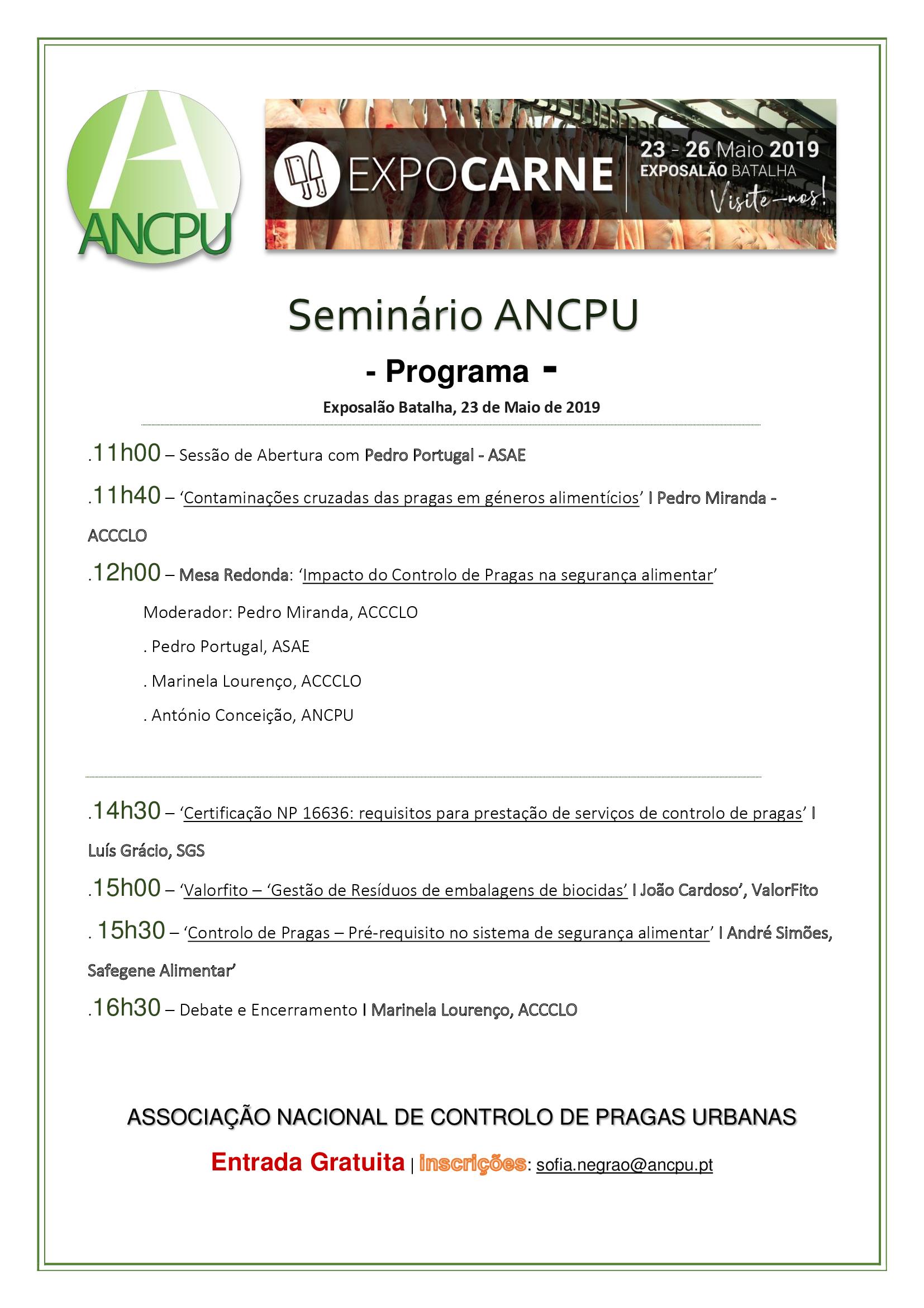 Seminário ANCPU Expocarne 23.05.2019